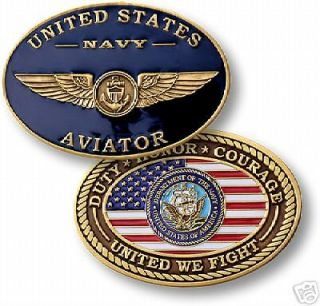 NEW BIG USN NAVY GOLD WING AVIATOR CHALLENGE COIN