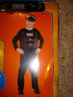 SWAT Special Forces Costume Halloween 4 6x NEW Small