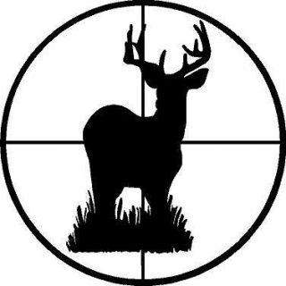 BLACK Vinyl Decal   Deer Buck scope gun target hunt hunting sticker