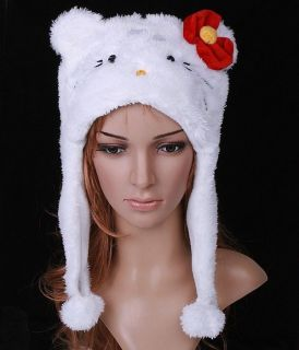 HELLO KITTY NOVELTY CHILD 4 YEARS OLD TO ADULT WINTER FUR HAT