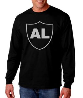 AL DAVIS OAKLAND RAIDERS TRIBUTE SHIRT BLACK LONG SLEEVE 100% COTTON
