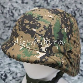 Airsoft Tactical Gear M88 PASGT Kevlar Helmet Cover Woodland Digital