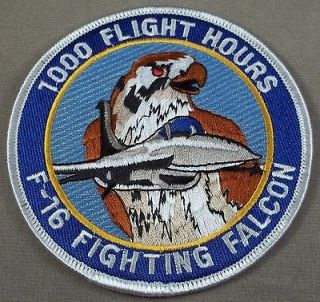 US Air Force Patch F   16 Fighting Falcon 1000 Flight Hours