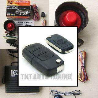 Car Alarm Security System + Remote Central Locking Kit VW Golf Audi A3