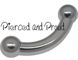 STEEL LARGE GAUGE CURVED BAR / BARBELL ~ prince albert / body piercing