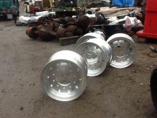 Set of 4 Alcoa 13X22.5 13 22.5 Super Single Wide Base Aluminum Wheel