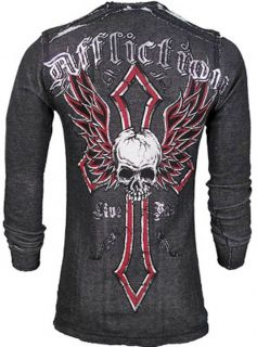 AFFLICTION LIVE FAST ELITE REVERSIBLE THERMAL SILVER FOIL SIZE M NWT