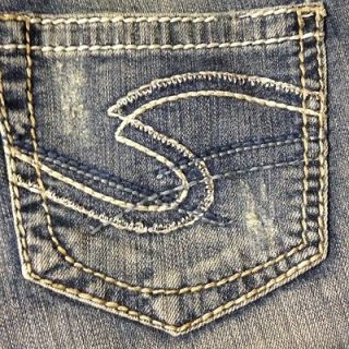 B05 Womens Silver Jeans Tuesday Bootcut 28/33 Sz 5/6 Distressed NEW