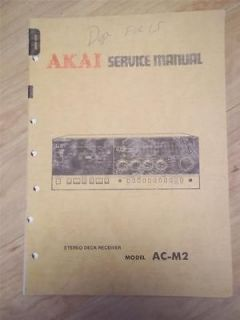 Akai Service Manual/Parts List~AC M2 Tape Deck Receiver~Origi nal