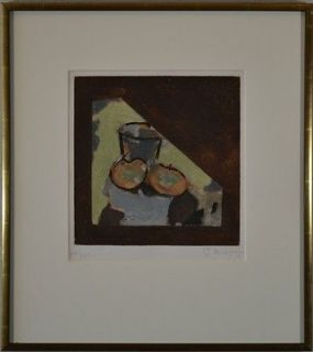 Newly listed Georges Braque original signed numbered aquatint Oblique