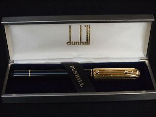 Alfred Dunhill Sidecar Chassis Gold Plated Black Resin Fountain Pen