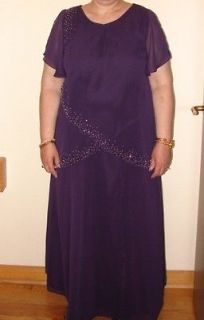 purple mother of the bride dress plus size