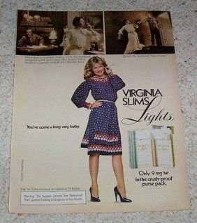 1981 page  Virginia Slim cigarettes  Jessica Ward midnight dreary