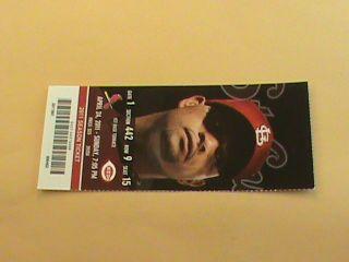 24 2011 Cardinals Reds Full Ticket   Yadier Molina HR Albert Pujols