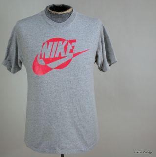 Vtg 80s Neon NIKE t shirt MEDIUM Rayon Blend Made In USA