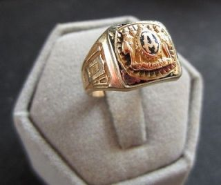 1932 Allegan High School Class Ring Size 6 10k Yellow Gold