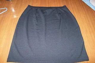 NWOT Womens Basic Black Dress Skirt EDDIE BAUER sz L 12 14 Totally