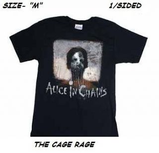 ALICE IN CHAINS   T SHIRT   STITCHES   ROCK BAND   M   1/SIDED