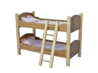 New All Natural 18 Inch Bamboo Bunk Beds for American Girl Dolls