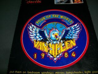 Van Halen Tour Of The World Vintage 5 Vinyl Decal Sticker Eddie David
