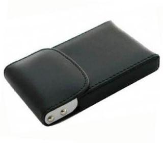 Black Leatherette Business Name Credit ID Card Holder Case B06B
