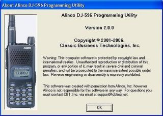 Alinco Software DJ 196 DJ 296 DJ 496 DJ 596 DJ C7