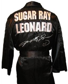Newly listed SUGAR RAY HAND SIGNED BOXING ROBE WITH PROOF AND COA
