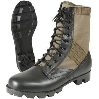 Olive Drab Military Army Canvas Panama Jungle Combat Boots