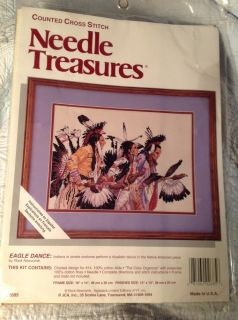 Dance Native Indian Cross Stitch Kit Needle Treasures USA American