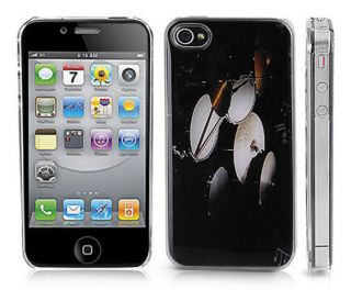 Snap On Clear iPhone Cover Case for 4/4S iPhone   DRUM SET Design