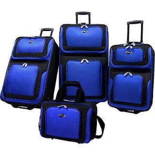 Traveler New Yorker 4 Piece Luggage Set   Navy
