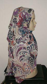 Square Shimmery Scarf Hijab Khimar Abaya Islam Esarp Foulard Shawl