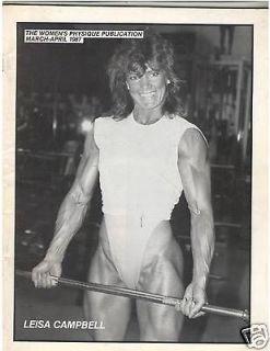 WOMENS PHYSIQUE PUBLICATION female bodybuilder magazine/ Leisa