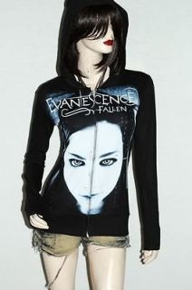 Evanescence Goth Metal Rock DIY Slim Fit Hoodie Jacket Top Shirt