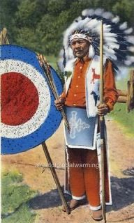 Photo. ca 1938 Native American Cherokee Indian Chief Standing Deer