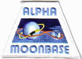 Space 1999 TV Series Alpha Moonbase Uniform Logo Patch, NEW UNUSED