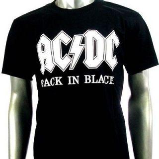 Sz M AC/DC Angus Young T Shirt Biker Heavy Metal Punk Rock Men Gb6