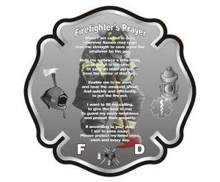 Firefighter Prayer Fire Fighter Rescue Wall Car Vinyl Sticker Decal