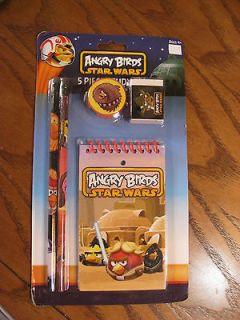 Angry Birds Star Wars 5 Piece Study Set   Memo Pad, Pencils, Eraser