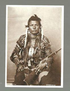 Bear Shield Kaj ar o ton Indian Native American Art Postcard