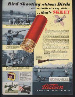 1934 WESTERN AMMUNITION SKEET TARGET WOMAN CLAY PIGEON HUNT GUN SPORT
