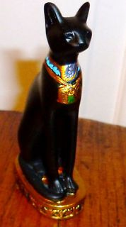 Ancient Egyptian Art Statue Artifact Figurine Egyptian Bastet Cat