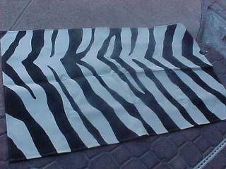 NEW ZEBRA ANIMAL PRINT BLACK WHITE AREA RUG HALL RUNNER 60 BY 36
