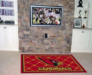 Arizona Cardinals 4x6 Foot Area Rug 46x72