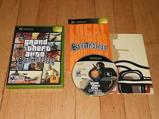Grand Theft Auto San Andreas COMPLETE w/ POSTER (Xbox,2005) 360