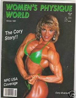 Womens Physique World Female Muscle Magazine Cory Everson Winter 1991
