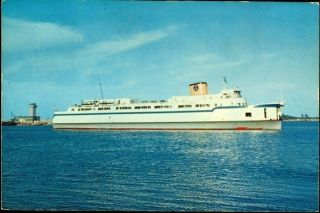 1950s NORFOLK, VA, CHESAPEAKE BAY FERRY BOAT PRINCESS ANNE JUMBO