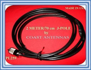 Newly listed J Pole antenna 2 Meter 440 VHF UHF ham radio transceivers
