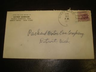 PACKARD MOTOR CAR Co auto DETROIT Great Bend NY GATES GARAGE H