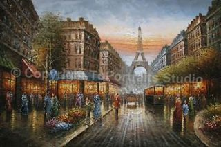 original oil painting paris in Direct from the Artist
